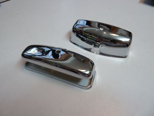 Chrome on brass number plate light cover